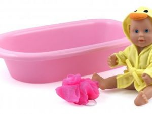 Dolls World by Peterkin  - Baby Bathtime 25cm Doll with gown