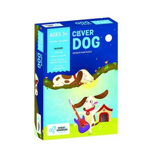 Chalk and Chuckles - Clever Dog – Opposite Pairs Puzzle