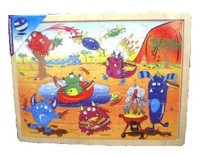40 Pce Wooden Monster Puzzle