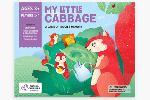 Chalk and Chuckles - My Little Cabbage – A game of touch and memory