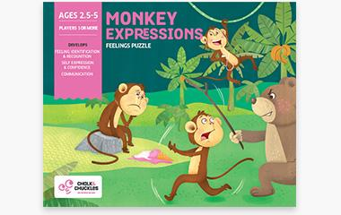 Chalk and Chuckles - Monkey Expressions – Show What You Feel and Why