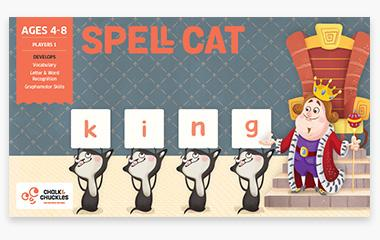 Chalk and Chuckles - Spell Cat Spelling Game