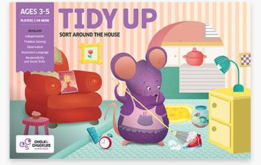 Chalk and Chuckles - Tidy Up – Sort around the house