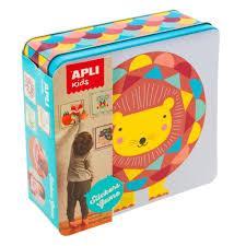 Apli Lion Stickers Shape and Colour Set (removable stickers)
