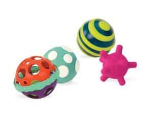 B. toys Ball-a-Balloos Set of 4 Textured Balls