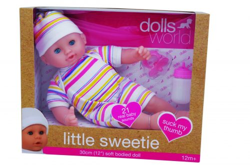 Dolls World by Peterkin - Little Sweetie 30cm Doll with Sound