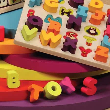 B. Toys by Battat - Alphabet Chunky Block Puzzle