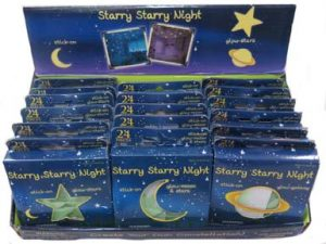 Glow in the Dark Moon and Stars Wall Decorations