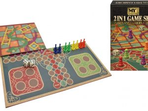 KandyToys - 2 in 1 Snakes and Ladders and Ludo Game Set