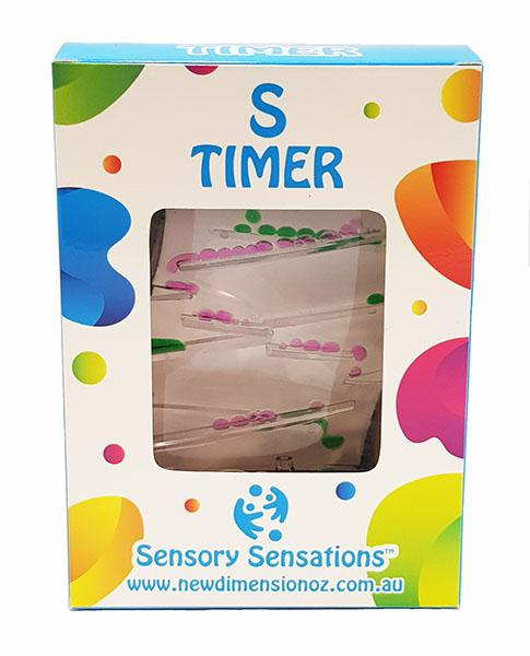 "Sensory Sensations - ""S"" Shaped Liquid Motion Timer"