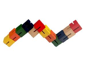 Wooden Twist and Lock Block Puzzle