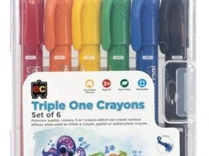 Educational Colours - Triple One Crayons (Set of 6)