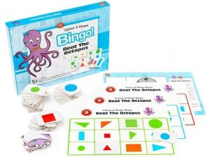 Learning Can Be Fun - Beat The Octopus Colour and Shape Recognition Bingo