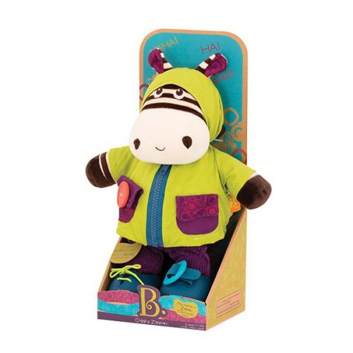 B. toys by Battat - Giggly Zippies - Dress Me Zebra
