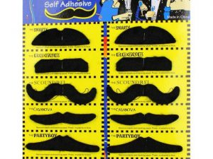 Moustache Party - Set of 12 Adhesive Moustaches