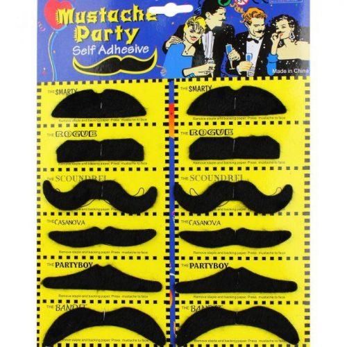 Moustache Party - Set of 12 Adhesive Moustaches