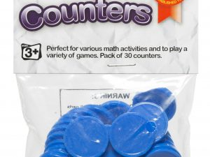 Educational Colours - Counters Blue - Pack of 30