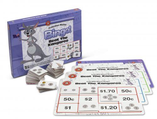 Learning Can Be Fun - Beat The Kangaroo, Australian Dollar Bingo