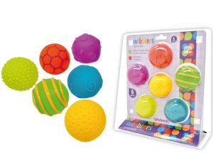 Play and Learn - Wibblers Pack of 6 Sensory Balls