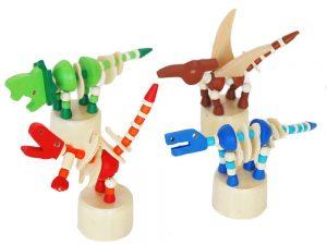 Wooden Dinosaur Press Toy