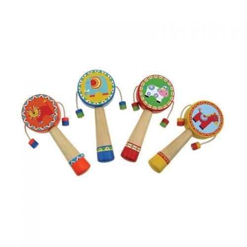 Wooden Animal Hand Drum