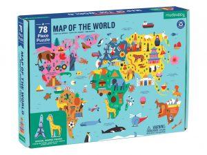 Mud Puppy 78 pce World Map Puzzle