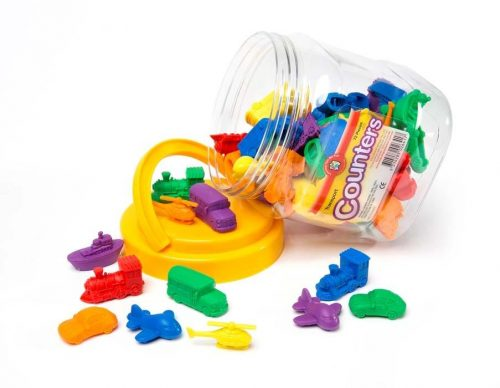Learning Can Be Fun -  Transport Counters Jar of 72