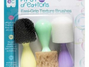 First Creations -  Easi Grip Texture Brushes - Pack of 3