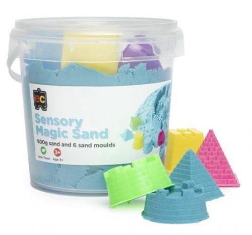 Ed-Vantage Sensory Cotton Sand with Moulds- 600g Tub