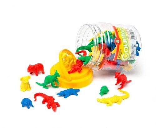 Educational Colours - Australian Animal Counters - Jar of 48
