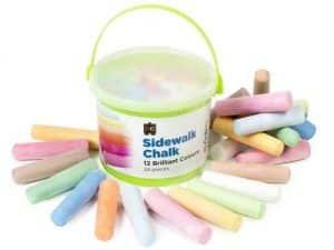 Ed-Vantage Sidewalk Chalk - Tub of 24 Jumbo Sticks