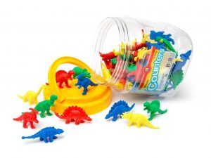 Educational Colours - Dinosaur Counters - Jar of 64