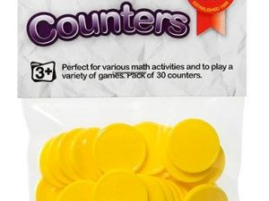 Educational Colours - Counters Yellow - Pack of 30