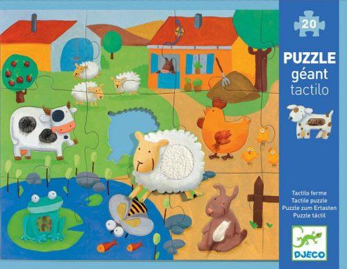 Djeco - Tactile Farm 20pc Giant Puzzle