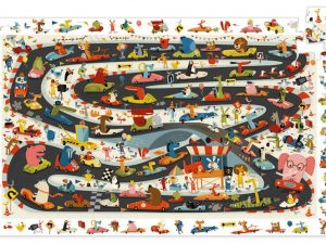 Djeco - Car Rally 54 pce Observation Puzzle