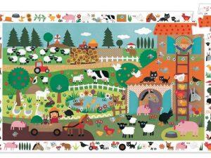 Djeco - The Farm 35 pce Observation Puzzle