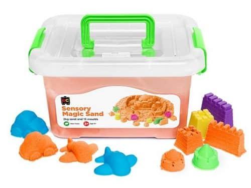 Ed-Vantage Sensory Magic Sand with Moulds- 2kg Tub