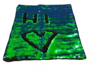 Nana's Weighted Blankets - Sequinned Cushion Blue-Green 3kg