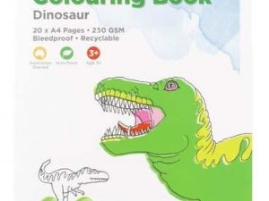 Educational Colours - Colouring Book - Dinosaur 20 pages