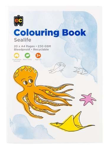 Educational Colours - Colouring Book - Sea Life 20 pages