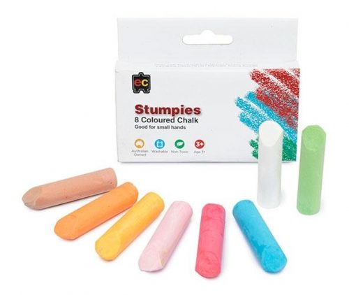 Educational Colours - Stumpies Chalk Pack of 8