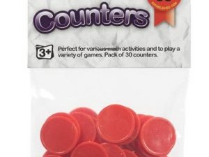 Educational Colours - Counters Red - Pack of 30