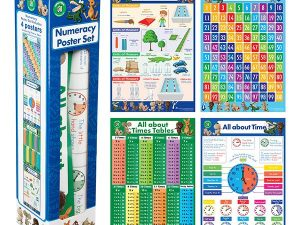 Ed-Vantage Numeracy Poster Box Set of 4 Posters