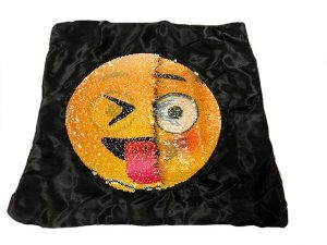 Nana's Weighted Blankets - Sequinned Cushion Gold Cheeky Face 3kg