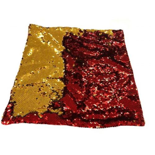 Nana's Weighted Blankets - Sequinned Cushion Red-Gold 3kg