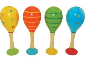 Wooden Maracas - Set of 2 - Four Styles