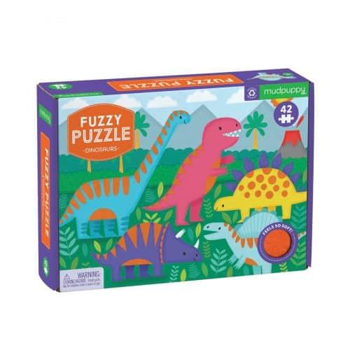 Mud Puppy 42 pce Fuzzy DInosaur Puzzle